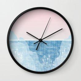 Pastel Sea Landscape Design Wall Clock