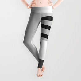 Carson Abstract Geometric Print in Black and White Leggings