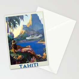 Vintage poster - Tahiti Stationery Cards