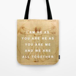 The Vitruvian Man is the Walrus Tote Bag