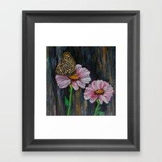 Moth Mode Fleur Framed Art Print