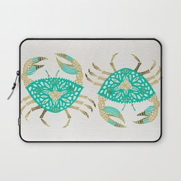 Crab – Turquoise & Gold Laptop Sleeve