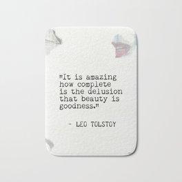 Leo Tolstoy quote 6 Bath Mat