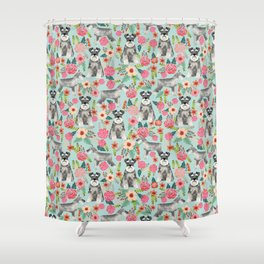 Schnauzer floral must have dog breed gifts for schnauzers owners florals Shower Curtain