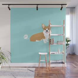 Corgi funny fart dog pure breed gifts dog lovers red corgis Wall Mural