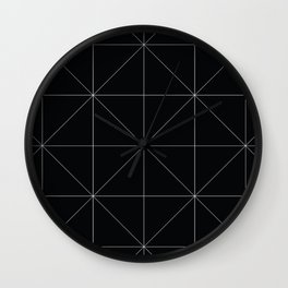 Geometric black and white Wall Clock
