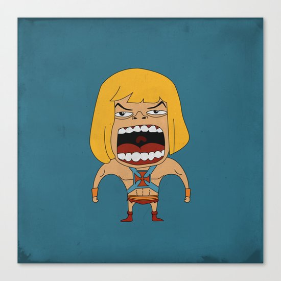 Screaming He-Man Canvas Print