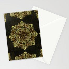 Golden Flower Mandala G346 Stationery Cards