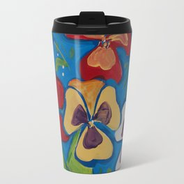Pansies Travel Mug