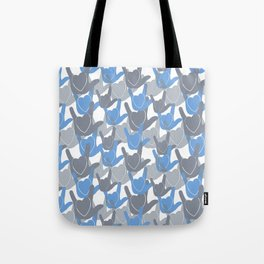 ASL I LOVE YOU HEARTS BLUE Tote Bag