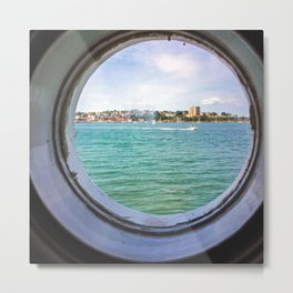 Portland, Maine from Inside Bug Light Metal Print