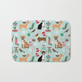 Chihuahua christmas best gifts for chihuahua owners dog pet portraits pet friendly Bath Mat