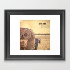 Eye see I sea Framed Art Print