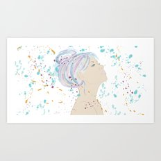 Watercolor Hair Art Print