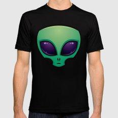 Alien Head Icon Black Mens Fitted Tee MEDIUM