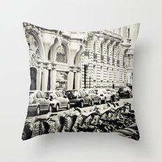 Parisian Street Throw Pillow