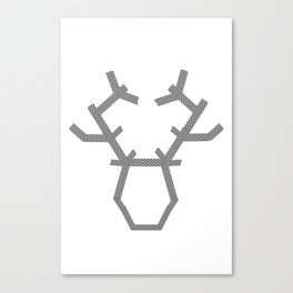 Digital washi tape deer head modern Canvas Print