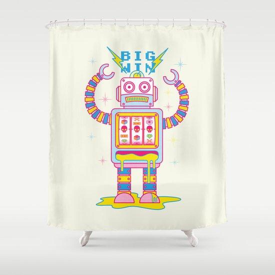 VEGASBOT 7000 Shower Curtain
