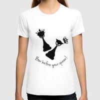 feminism T-shirts featuring Chess Cats - Feminism by La Gata Venenosa