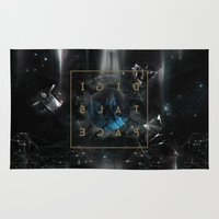 transformer Area & Throw Rugs featuring DigitalSpace by kaiartem