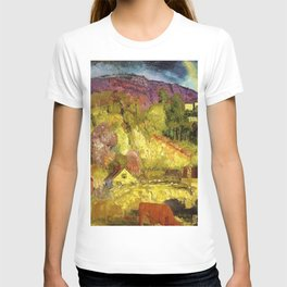 The Village on the Hill landscape painting by George Wesley Bellows T-shirt