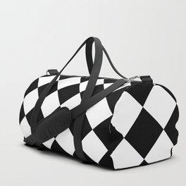 Rhombus (Black & White Pattern) Duffle Bag