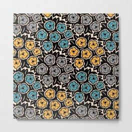 Mid Century Modern Flower Bouquet Pattern 945 Metal Print