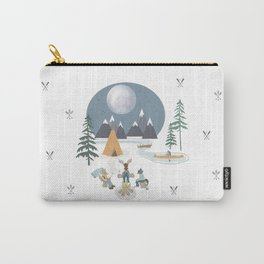 Camp Sleepy Moon (Large Print) Carry-All Pouch