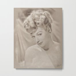 Lucille Ball by JS Metal Print