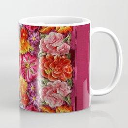 """Rose Huipil Embroidered"" Coffee Mug"