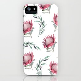 Protea and Gum Leaves iPhone Case