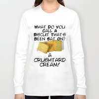 pun Long Sleeve T-shirts featuring Crushtard Cream Pun by georgestow