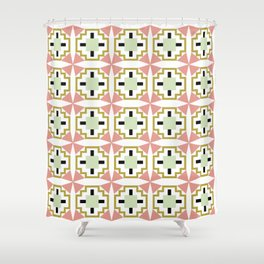 cactus flower tiled Shower Curtain