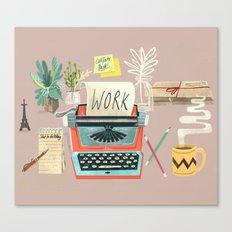 Work Canvas Print