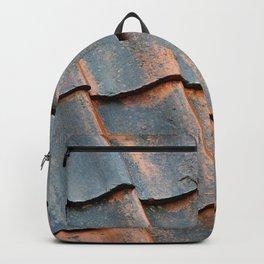 Old tile roof Backpack
