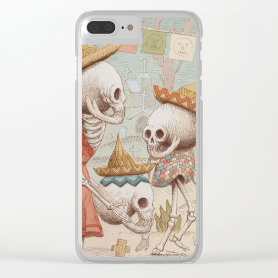 Mexican Skulls 3 Clear iPhone Case