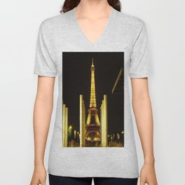 Eiffel Tower Unisex V-Neck