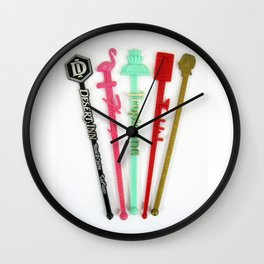 Vintage Las Vegas Swizzle Sticks Wall Clock