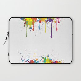 Paint Watercolor Splatter Laptop Sleeve