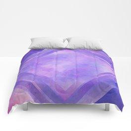 Mosaic Tile // Violet Watercolour Comforters
