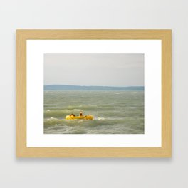 Lake Fun with Inflatable Toys Framed Art Print