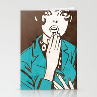 60s Stationery Cards featuring 60s Girl by Ed Pires
