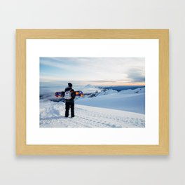 Morning view on Mt Doom Framed Art Print