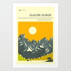 ROCKY MOUNTAIN NATIONAL PARK POSTER (Glacier Gorge) Art Print
