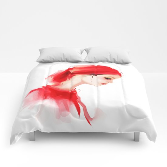 lady in  red Comforters