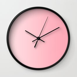 Pastel Pink to Pink Vertical Linear Gradient Wall Clock