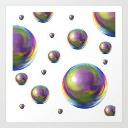 Bubbles everywhere Art Print