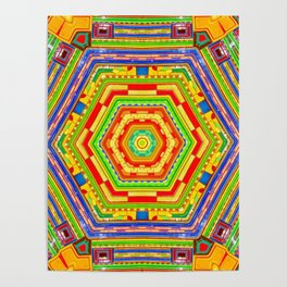 Stained Glass Kaleidoscope Poster