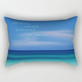 Blue Silence Rectangular Pillow