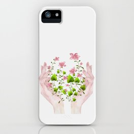 Blooming Hands iPhone Case